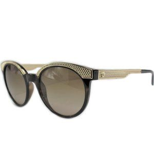 Versace 4330 53mm Havana Gold Brown Sunglasses